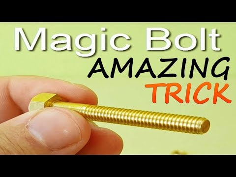 AMAZING MAGIC TRICKS WITH BOLT AND TRICK SECRET| MAGIC TRICKS REVEALED | AMAZING VIDEOS