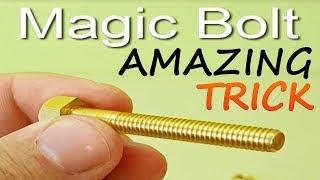 MAGIC TRICK WITH BOLT AND TRICK SECRET | TRICK FOR FRIENDS FAMILY AND KIDS