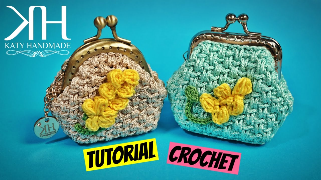 "Popolare TUTORIAL CROCHET COIN PURSE ""MIMOSA"" ○ Katy Handmade - YouTube MS39"