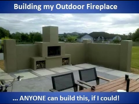 Building my outdoor fireplace (with commentary) - YouTube on Building Outdoor Fireplace With Cinder Block id=54121