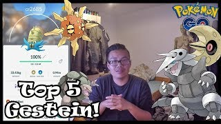 Top 5 BESTE Gestein Pokemon Rangliste! Pokemon Go!