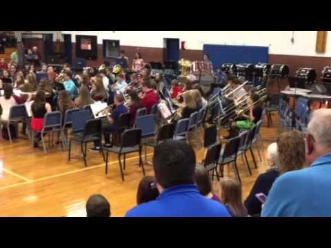Gate City Middle School 8th grade band 2015 song #1