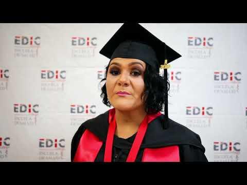 Testimonial Elizabeth Flores en Graduacio?n EDIC College 2019