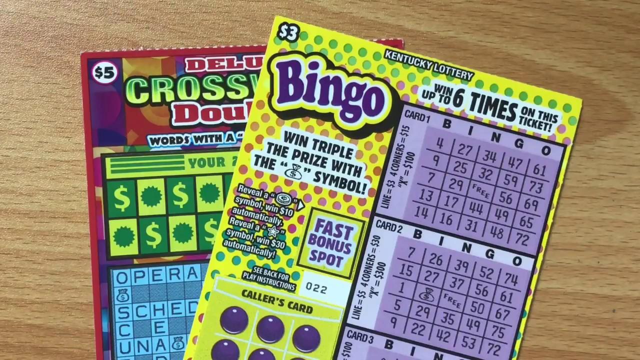 $3 Bingo & $5 Deluxe Crossword Doubler Kentucky Lottery Scratch Off Ticket