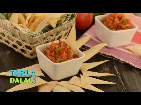 Salsa, Mexican Salsa Recipe, Salsa Dip, Fresh Tomato Salsa, Recipe in Hindi (सालसा) by Tarla Dalal