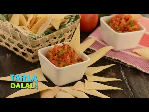 सालसा (Salsa, Mexican Salsa Recipe, Salsa Dip, Fresh Tomato Salsa) by Tarla Dalal