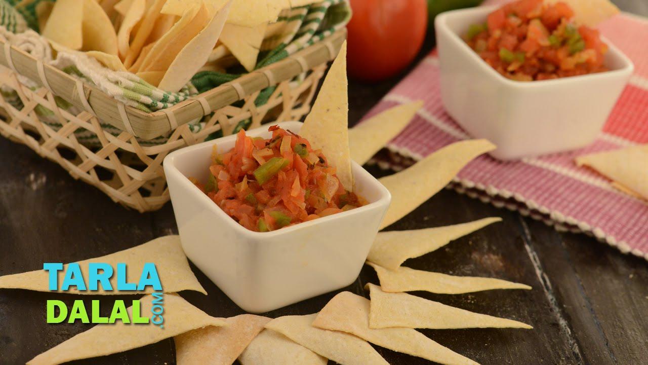 Salsa Mexican Recipe Dip Fresh Tomato By Tarla Dalal