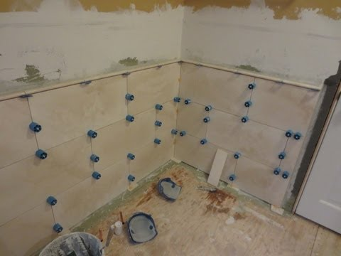 How to install Large Format Travertine tile using Proleveling System