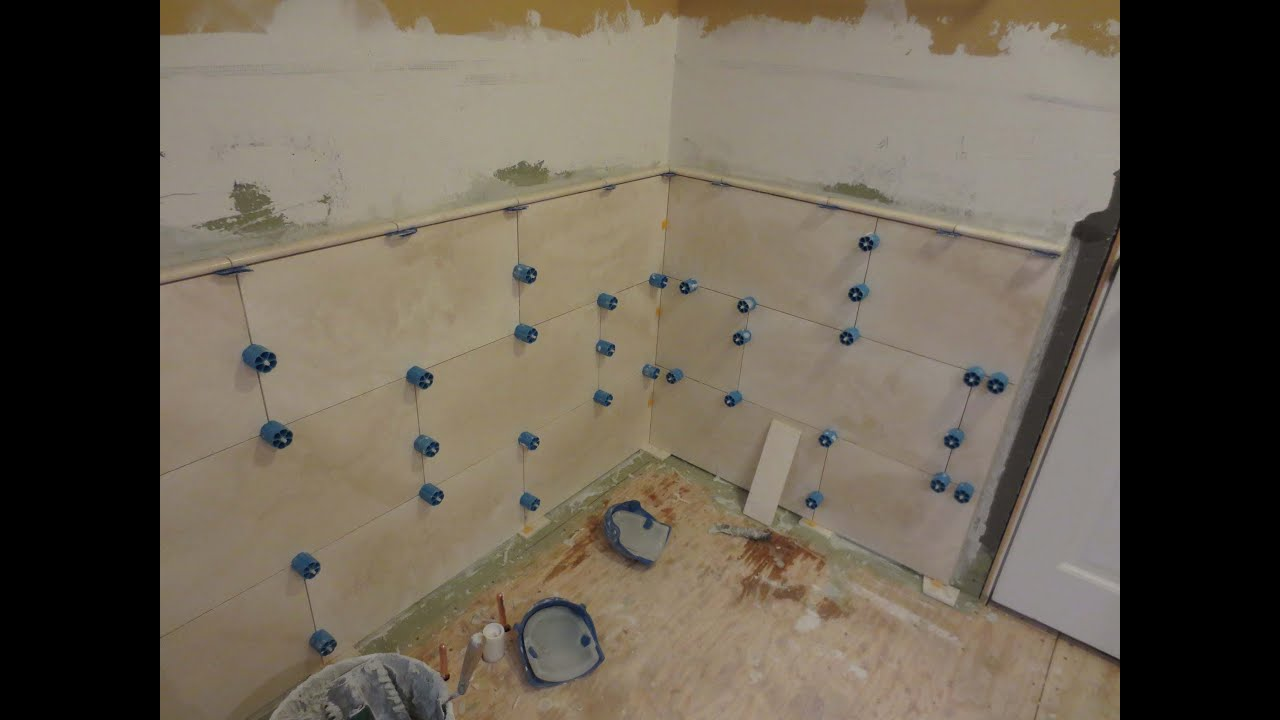How to install large format travertine tile using proleveling how to install large format travertine tile using proleveling system youtube dailygadgetfo Images