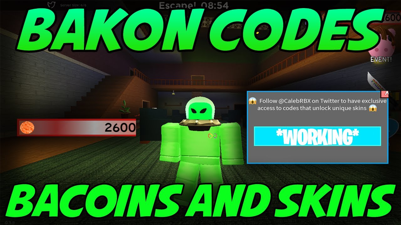 All 2020 Working Bakon Codes! Bacoins And Skins! (Roblox)