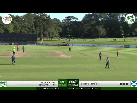 LIVE CRICKET - Ireland v Scotland GS Holdings T20 Tri Series