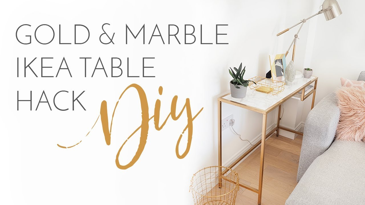 Gold Marble Ikea Tables Hack Diy