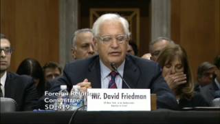 Friedman: U.S.-Israel Relationship Formed On The Basis Of Common Interests And Shared Values