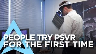 People try Playstation VR for the First Time | Waddle Home on PSVR