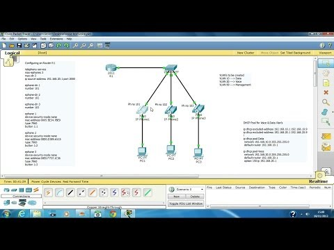 Configure VOIP in cisco packet tracer