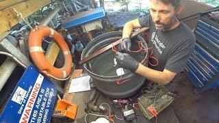Using electrolysis to convert rust