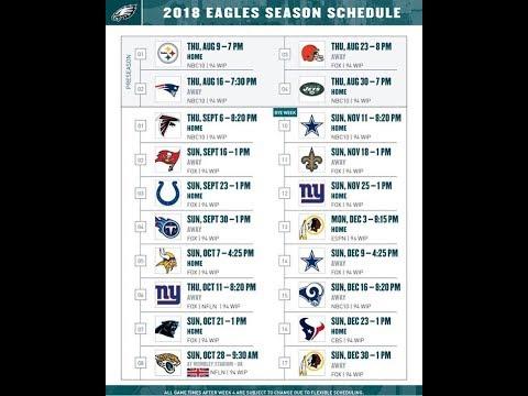 Eagles 2018 regular season schedule predictions