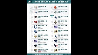 Eagles 2018 regular season schedule predictions