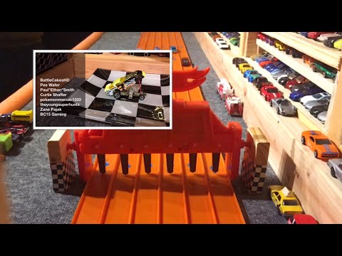 """2016 HOT WHEELS SUPER 6 LANE KING OF THE HILL #1 """"THE RACE"""""""