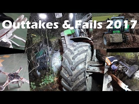 Outtakes & Fails  Pleiten, Pech und Pannen  Drohnen abstürze, umgefallenes Güllefass,...