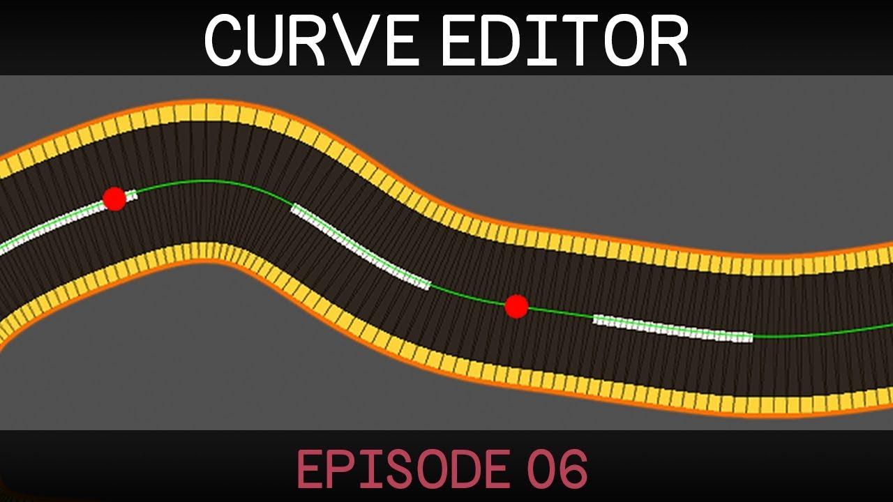 [Unity] 2D Curve Editor (E06: road mesh)