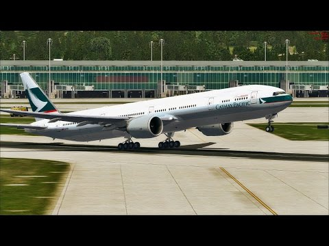 [FSX] CPA 382 Cathay Pacific Boeing 777-300ER Zürich  - Hong Kong on IVAO  [ FS2Crew ]