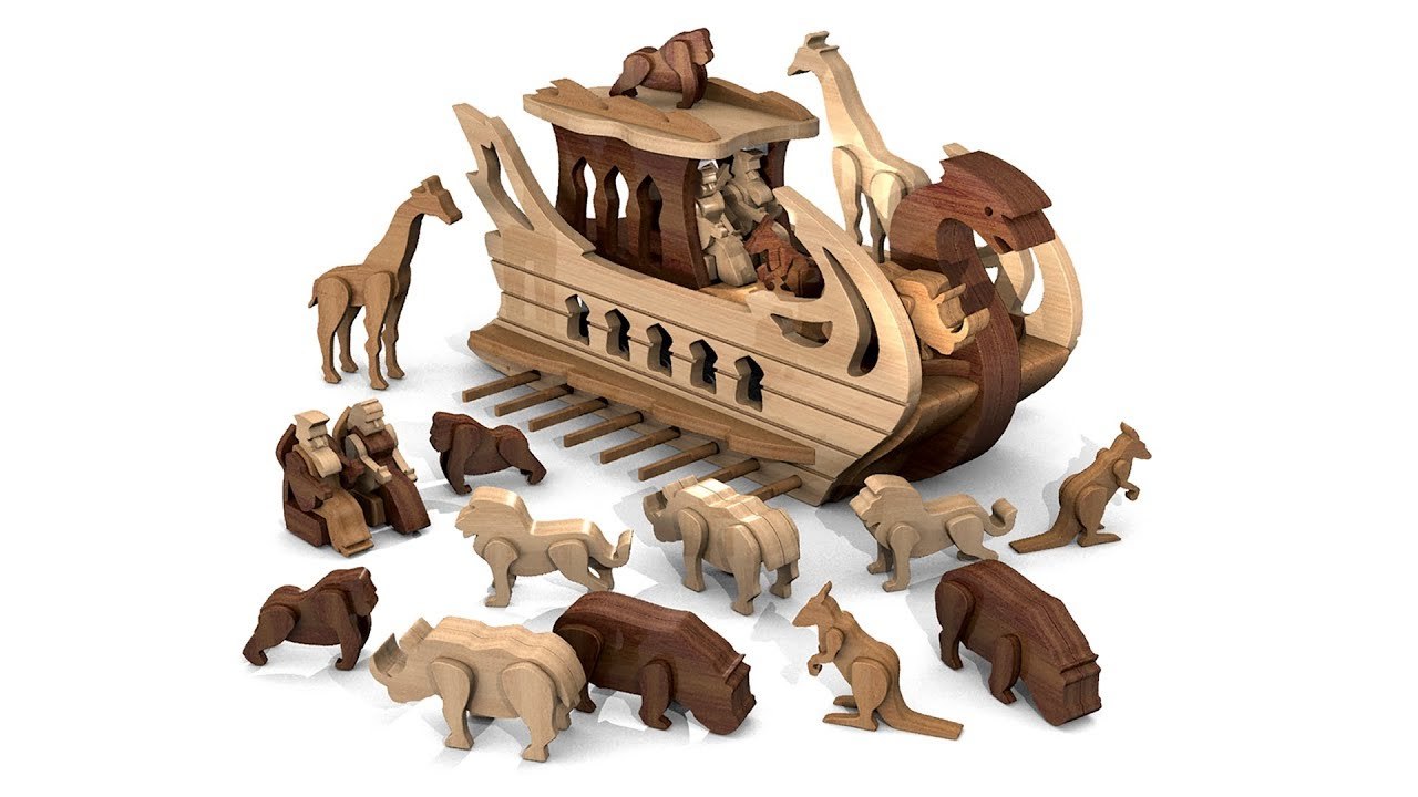 wood toy plans - ancient persian zoo galley ship