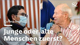 Corona-Impfung - Junge oder alte Menschen zuerst?