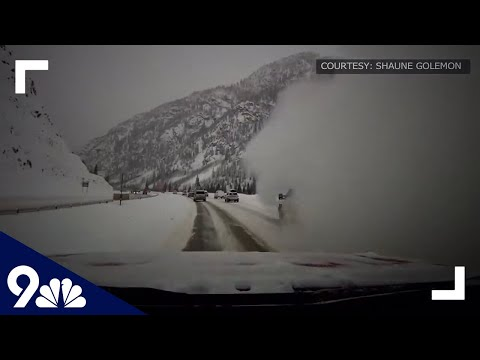 Avalanche of snow slams into vehicles on I-70 in Colorado