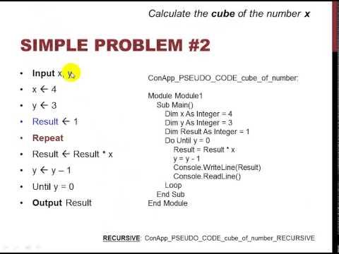 algorithm to pseudocode to code