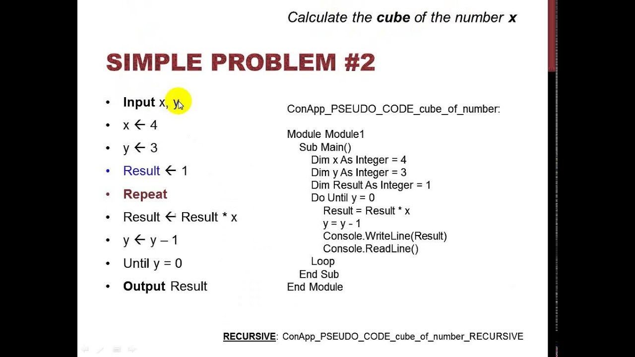 algorithm to pseudocode to code - YouTube