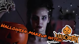 Halloween makeup witch!