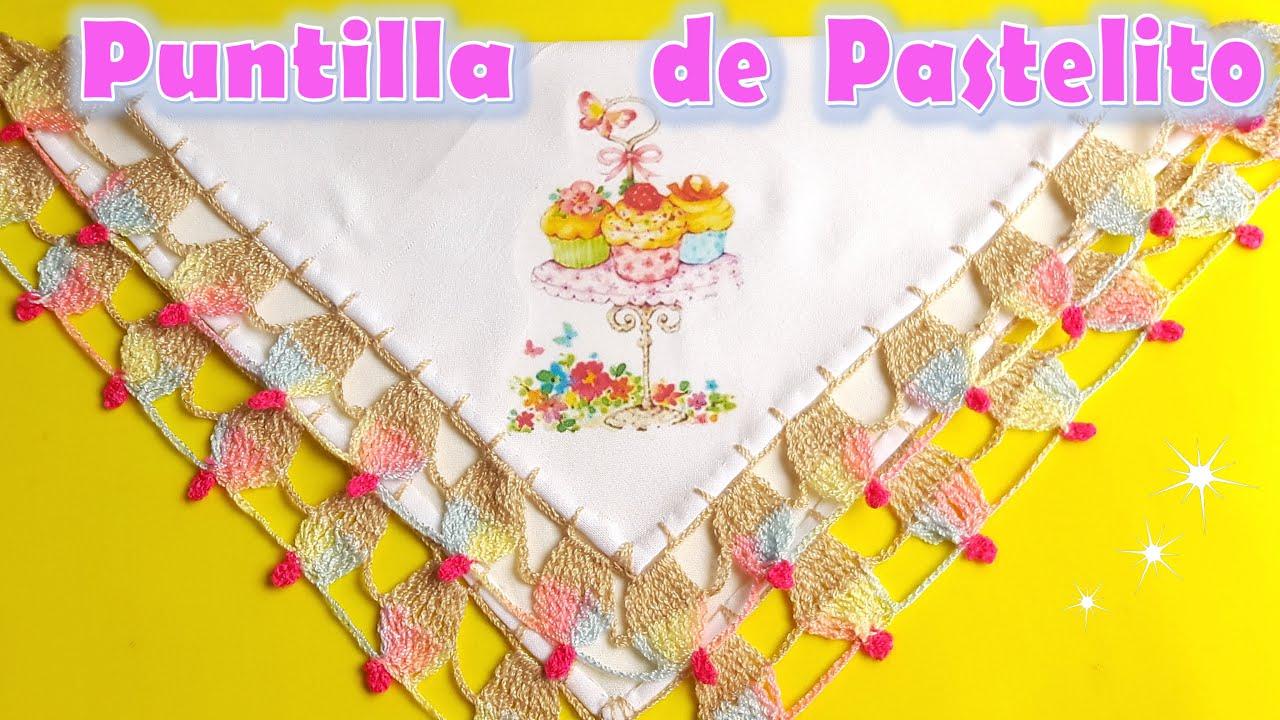 Puntilla de Pastelito a Crochet + muy FÁCIL , BONITA, RÁPIDA
