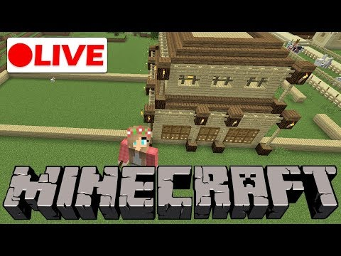🔴 Minecraft Live Stream | Building a Horse Stables in Minecraft!