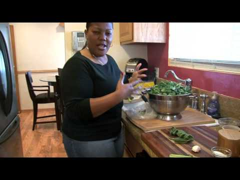 Collard Greens with Smoked Turkey Wings and Cornbread |Cooking with Carolyn