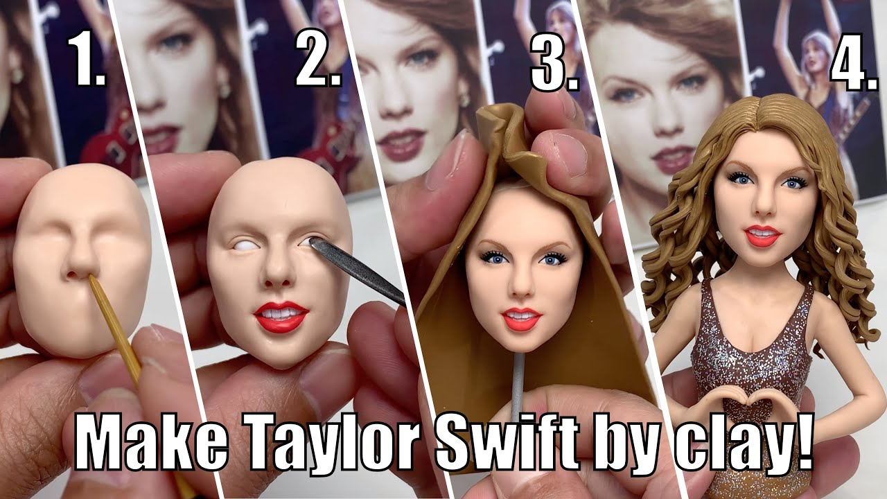 Clay Sculpture: Taylor Swift, the full figure sculpturing process from scratch【Clay Artisan JAY】