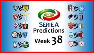 2018-19 SERIE A PREDICTIONS - WEEK 38