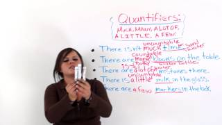 "Quantifiers In English: ""MUCH, MANY, A LOT OF, A LITTLE, A FEW"""