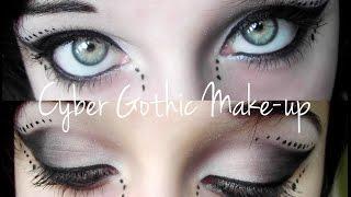 Black & white Cyber Goth make-up tutorial