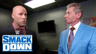 Mr. mcmahon puts the fate of universal championship match at wwe payback in adam pearce's hands. catch action on network, fox, usa sony ...