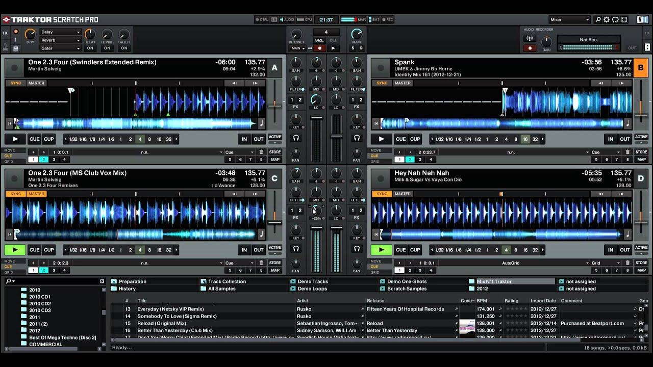 Diagram Mix 2013 Sur Traktor Pro 2 N U00b01 Electro Dance