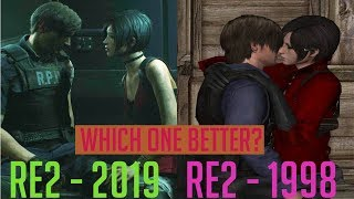 Resident Evil 2 Remake Kiss vs Resident Evil 1998 Kiss - Who Does it Better?