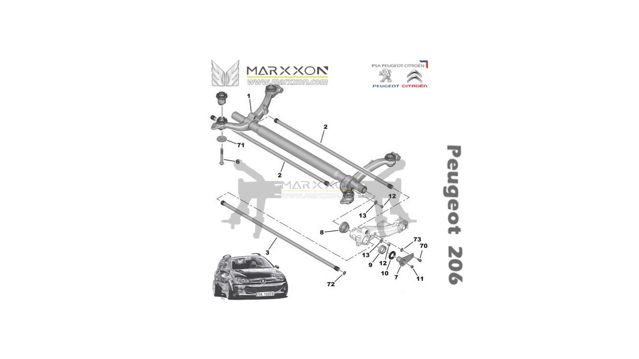marxxon diagram peugeot citroen rear axle  YouTube