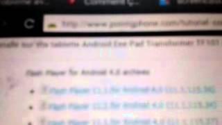 Comment installer flash player sur tablette