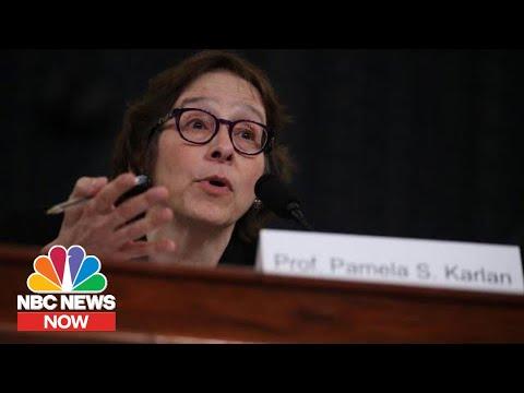 Watch Pamela Karlan's Impeachment Hearing Testimony In 3 Minutes | NBC News Now