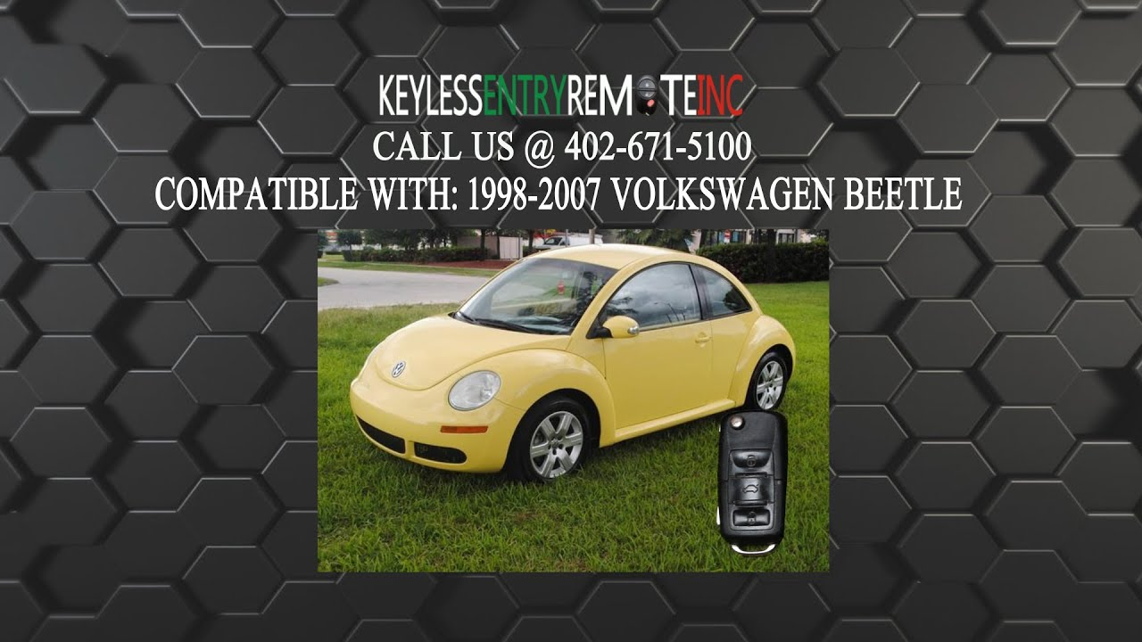 How To Replace Volkswagen New Beetle Key Fob Battery 1998 2001