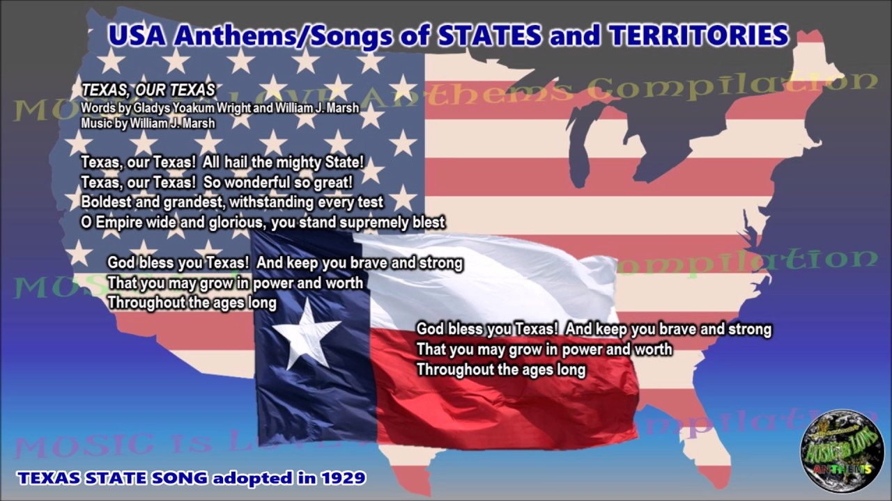 what is the official state song of texas