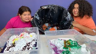 Garbage SLIME!!! Making Slime with our Trash Again