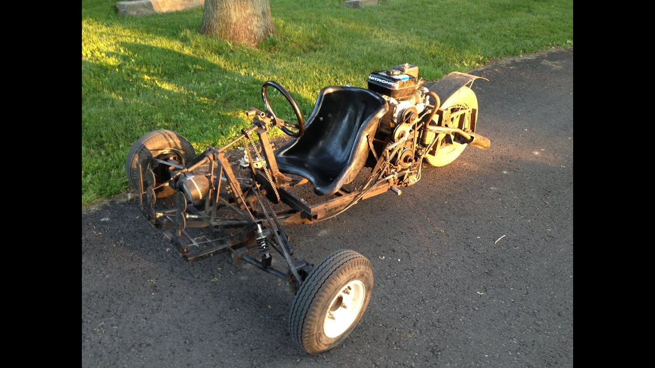 Homemade 3 Wheel Go Cart T REX Car 4 Speed Transmission