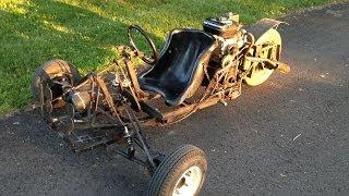 homemade 3 wheel go cart t rex car 4 speed transmission